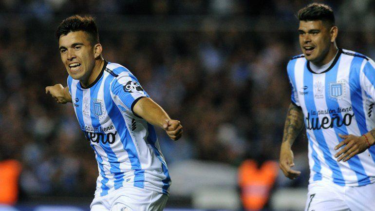 El zapalino Acuña metió el primer gol de Rancig ante Boca.