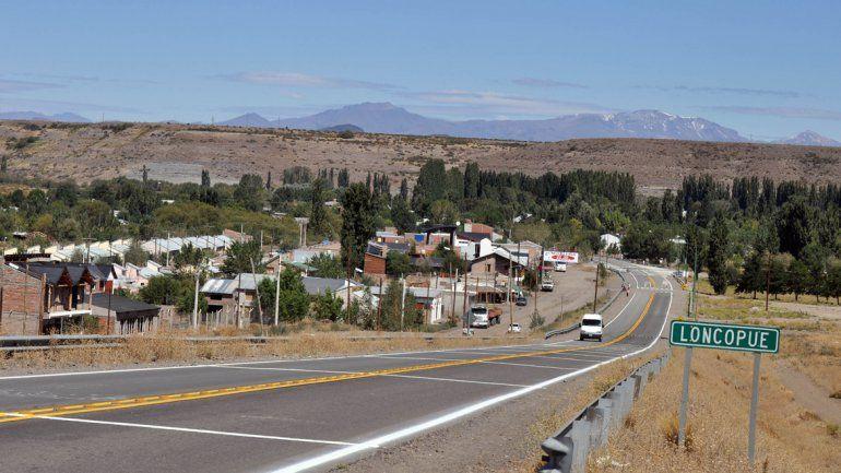 Entrada a la ciudad de Loncopué.