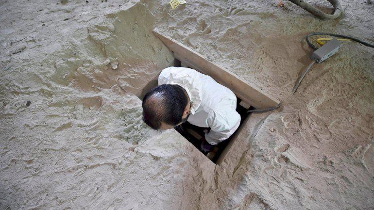 El túnel desde donde el Chapo Guzmán se fugó de una cárcel mexicana.