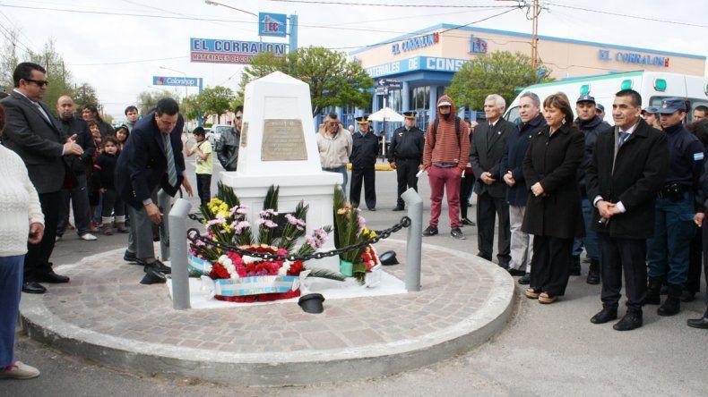 Rioseco y Pechen participaron del acto oficial por los 82 años de la ciudad.