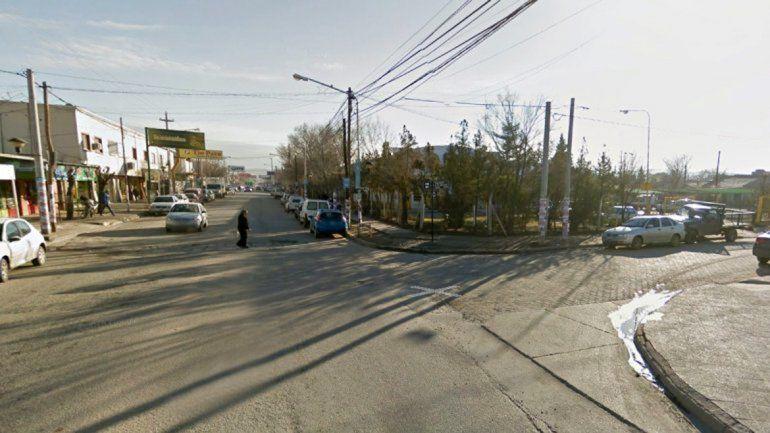 La esquina de Godoy y Luis Alonso donde se produjo el accidente.