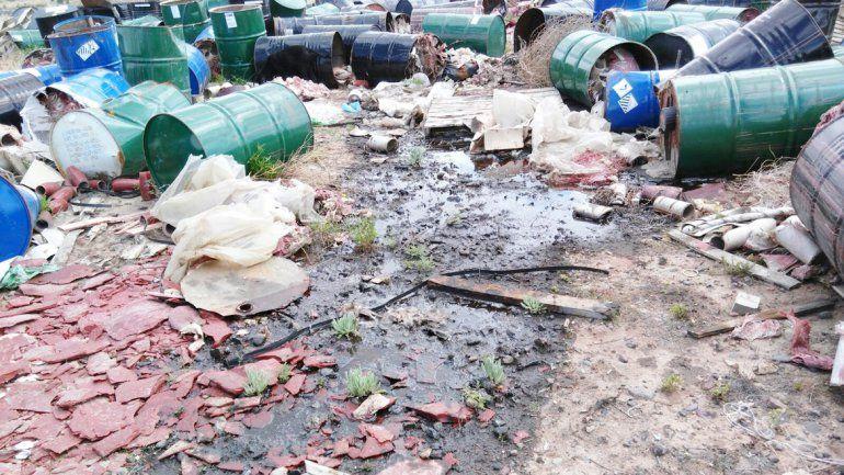 El depósito de aceites funcionaba desde hace años sin ser detectado.