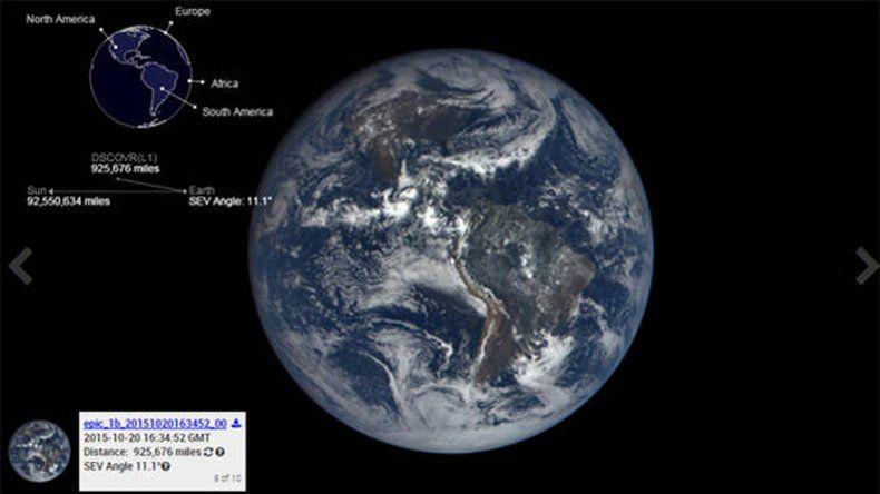 La Nasa lanzó un sitio web donde publica nuevas fotos de la Tierra