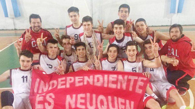 Los chicos de Independiente ganaron el triangular en Pico.