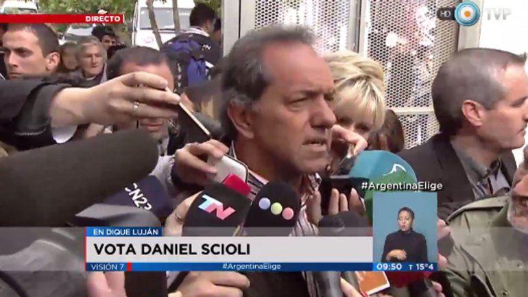Scioli: Le tengo fe al pueblo argentino