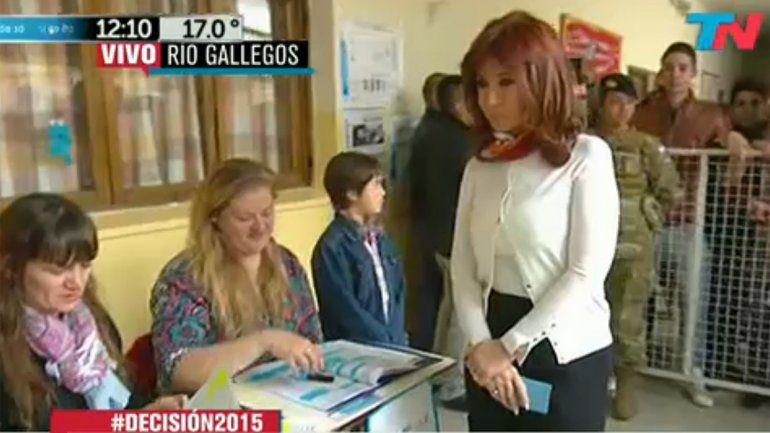 Cristina Fernández ya se encuentra en Olivos