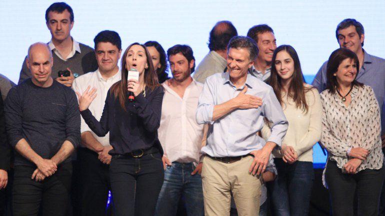 El triunfo de Vidal empujó los votos de Macri garantizando la entrada al ballotage. El festejo fue imparable.