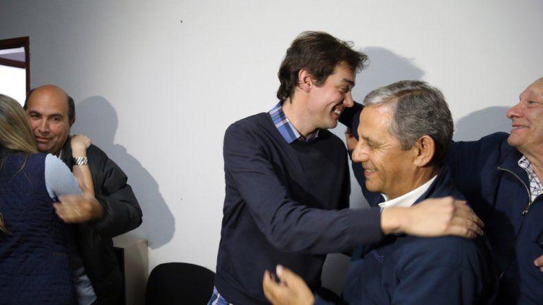Leandro López recibió las felicitaciones de Horacio Quiroga.
