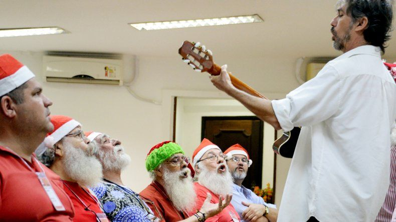 Ahora estudian para ser Papá Noel.