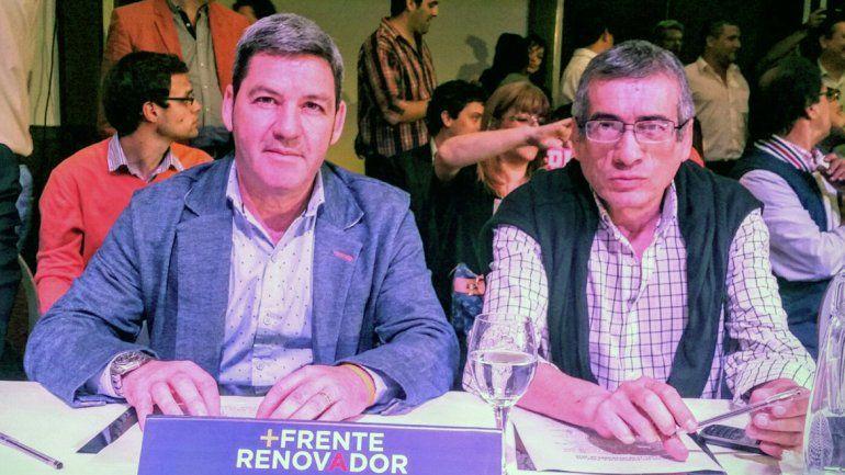 Gabriel Tom Romero y Carlos Chino Sánchez durante el encuentro del Frente Renovador en Buenos Aires.