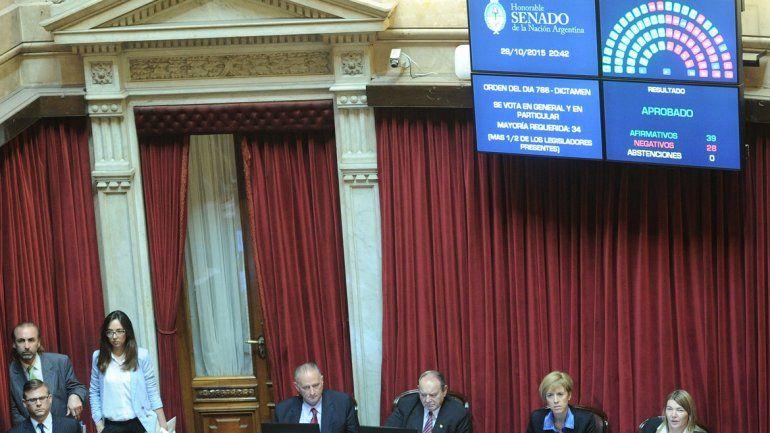 El Senado aprobó el proyecto que había sido modificado en Diputados.