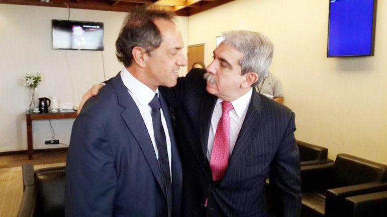 Daniel Scioli y Aníbal Fernández