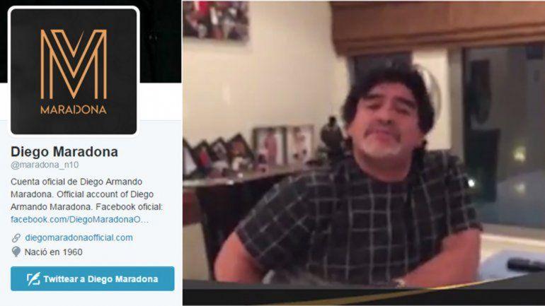 En el día de su cumpleaños, Maradona lanzó un video y su Twitter