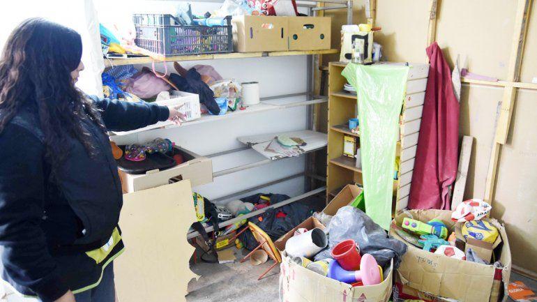 Las pocas cosas que quedaron en el taller de Hibepa tras los dos robos.