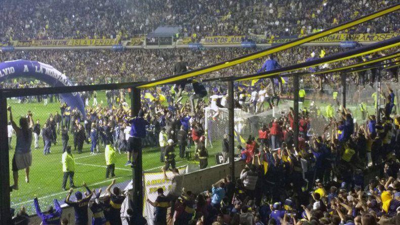 Mirá el saludo de la Popular al Boca campeón