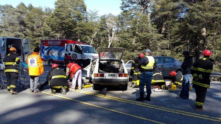 Tres heridos grave tras un choque frontal en la Ruta 40