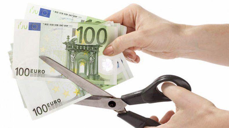 Los billetes destrozados eran de 100 y 500 euros.