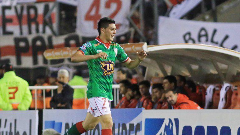 Espinoza luego de anotar el gol del Globo.
