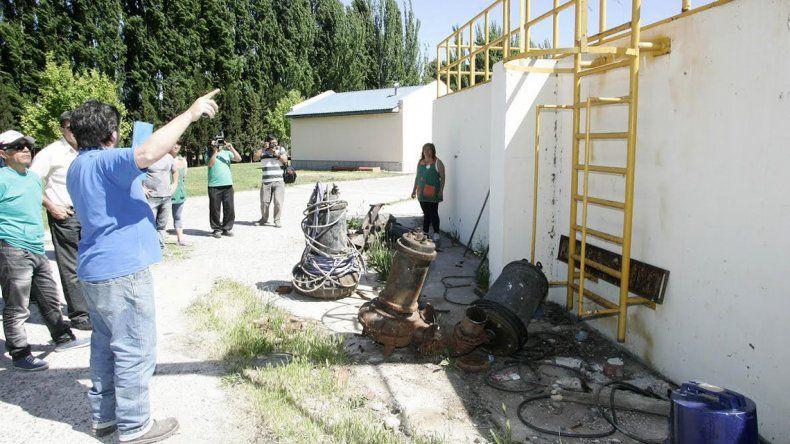 Bertoldi denuncia un sabotaje a la planta de tratamiento cloacal