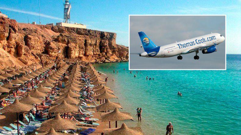 La zona balnearia del sur de la península del Sinaí es una de las más visitadas. Ayer el aeropuerto era un caos debido a la suspensión de vuelos.