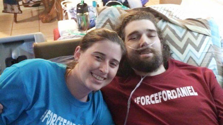 Daniel tenía el 90% de los pulmones tomados por el cáncer.
