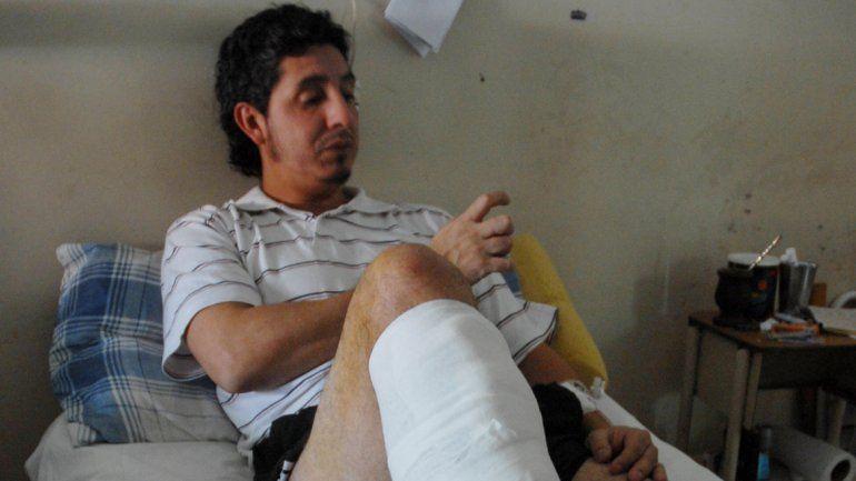 Diego Núñez ahora se recupera de la mala praxis de la que fue objeto en Santa Fe.