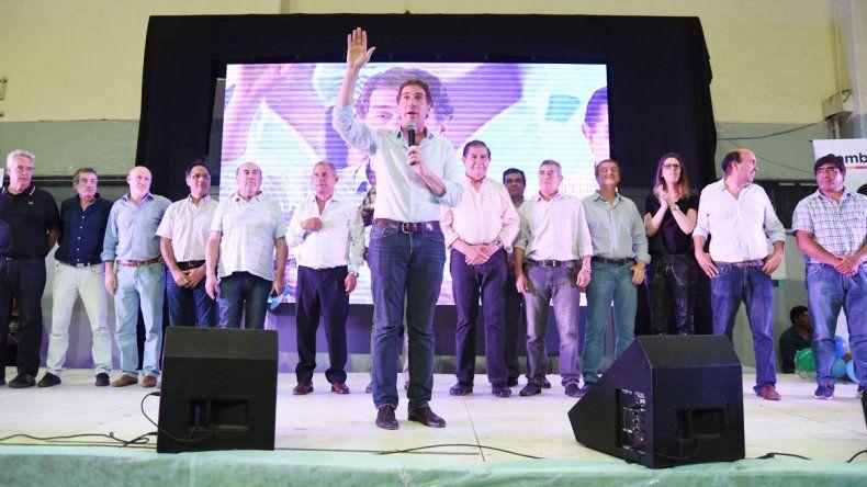 Parte del MPN, el massismo y Pechi, en apoyo a Macri