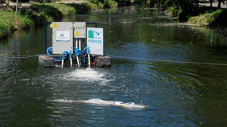 Eliminan olores del arroyo Durán con máquinas de ozonización