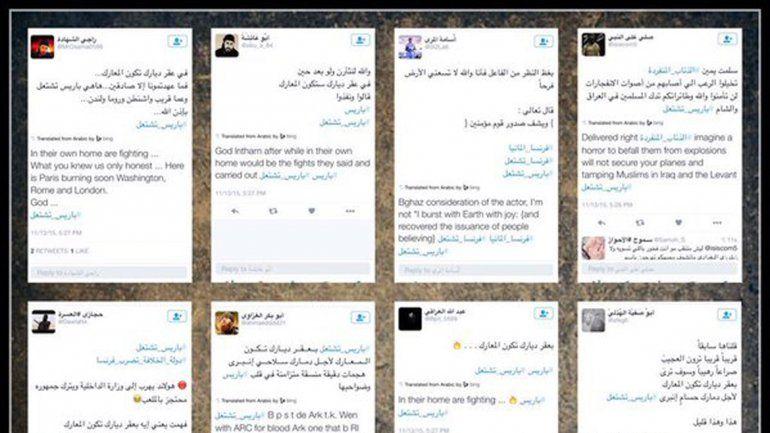 Twitter comenzó a suspender las cuentas que anunciaban los ataques.