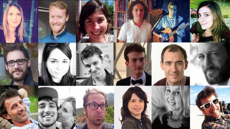 Algunas de las víctimas de los atentados del viernes a la noche. La cifra oficial sigue siendo de 129 muertos.