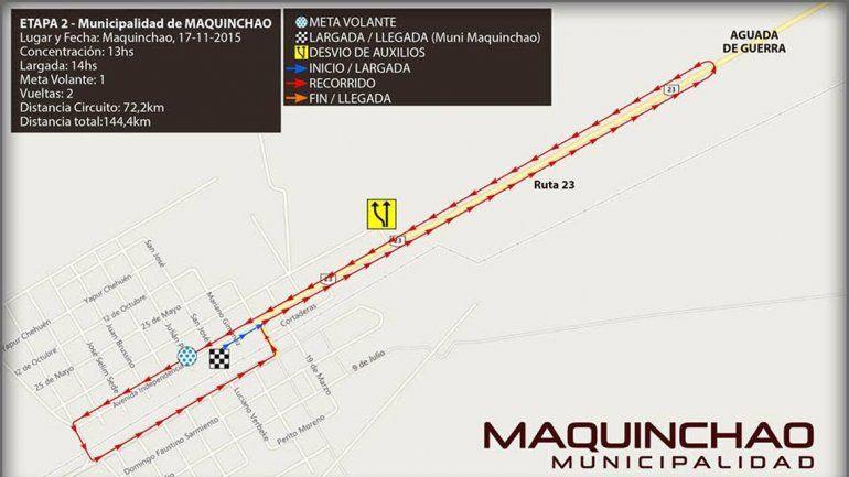 La segunda etapa de la competencia comienza en Maquinchao.