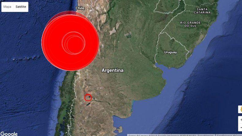 El movimiento sísmico se registró en Chile.