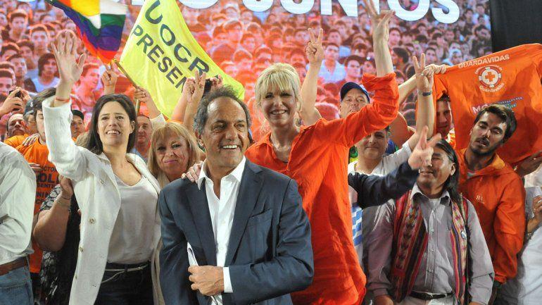 Scioli cerró su campaña en La Matanza.