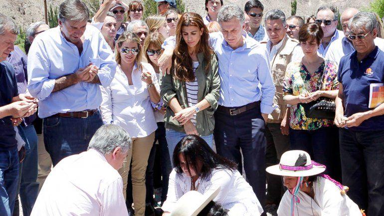 La ceremonia de la Pachamama de la que participó Mauricio Macri.