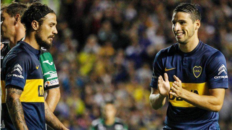 Osvaldo y Calleri compartieron halagos vía Twitter.
