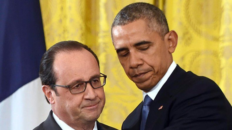 Barack Obama y François Hollande