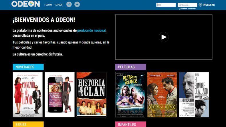 Ya está en línea Odeon, el Netflix argentino