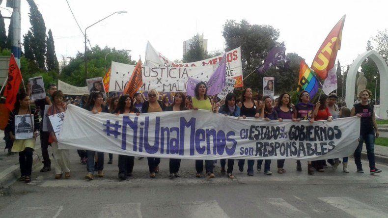 La marcha en pleno centro de la ciudad.