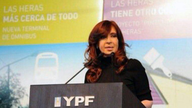 Cristina en YPF.