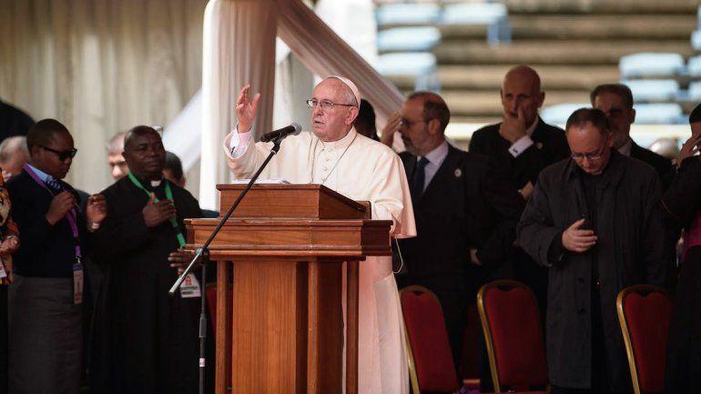 El papa Francisco durante una misa en Nairobi