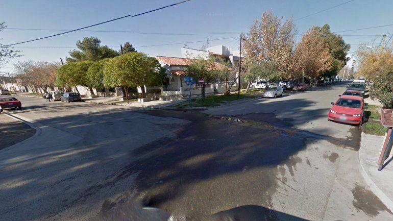Calles Mazzoni y Winter en la ciudad de Neuquén.