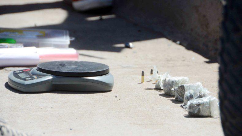 La droga y las balas secuestradas.