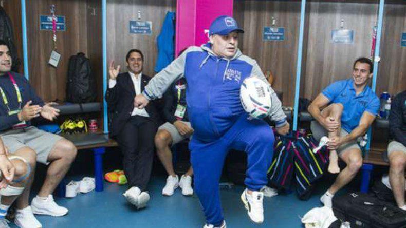 Maradona sigue en Venezuela y ya bajó 10 kilos luego de ajustar su bypass gástrico.