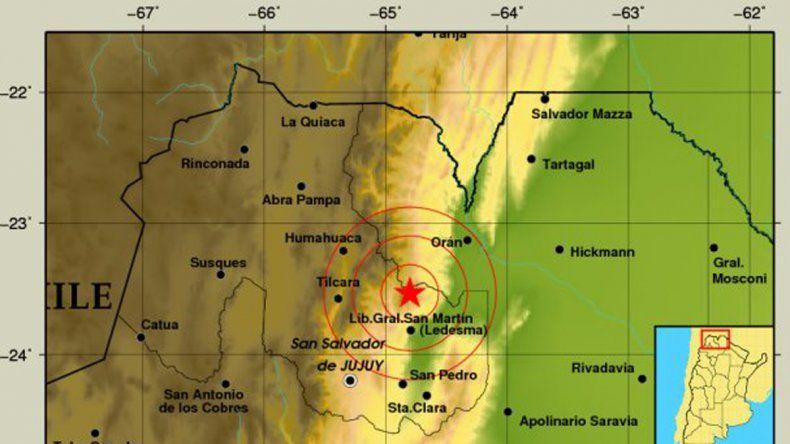 El epicentro en Jujuy se produjo al noreste de la capital.