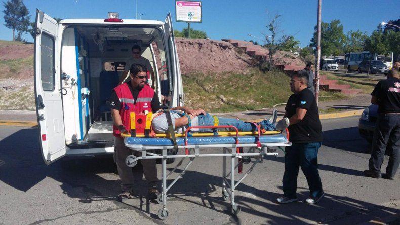 El accidente ocurrió en calle Antártida Argentina al 300.