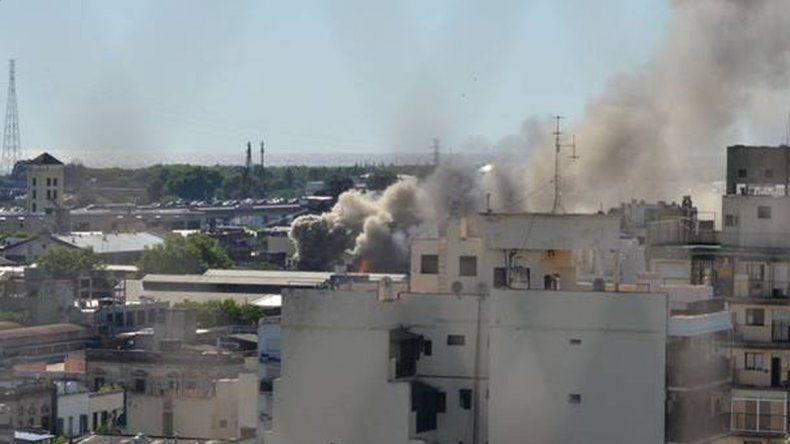 16 heridos por un incendio en un conventillo
