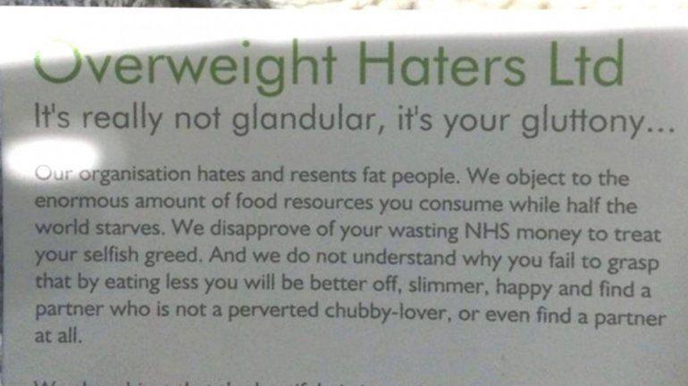 El panfleto antigordos: no es glandular sino glotonería