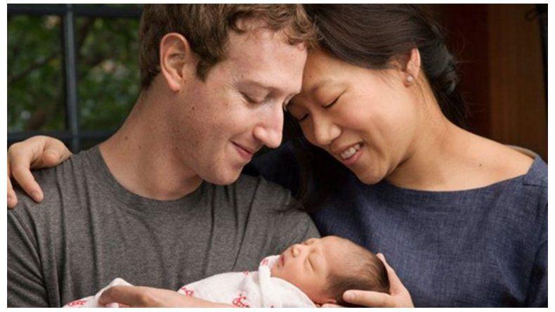 El creador de Facebook fue papá y anunció que donará el 99% de sus acciones