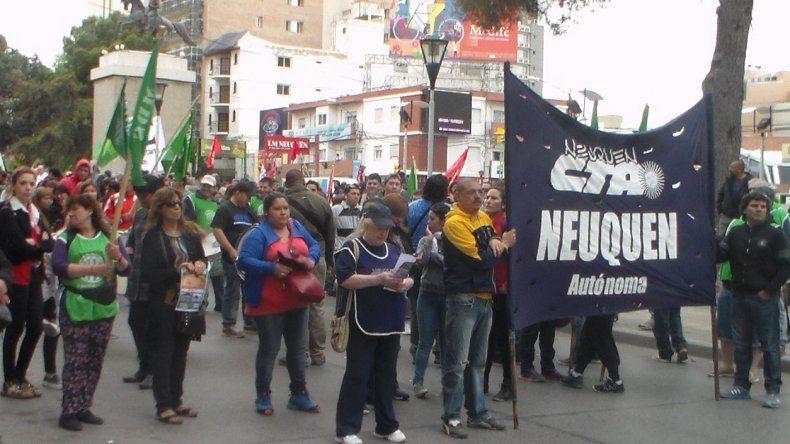 La CTA marcha por Neuquén.