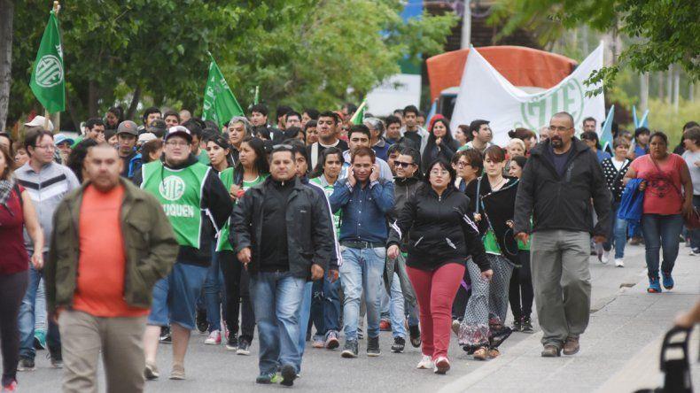 La marcha partió desde el monumento al general San Martín.